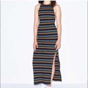 American Apparel Sleeveless Striped Maxi Dress.